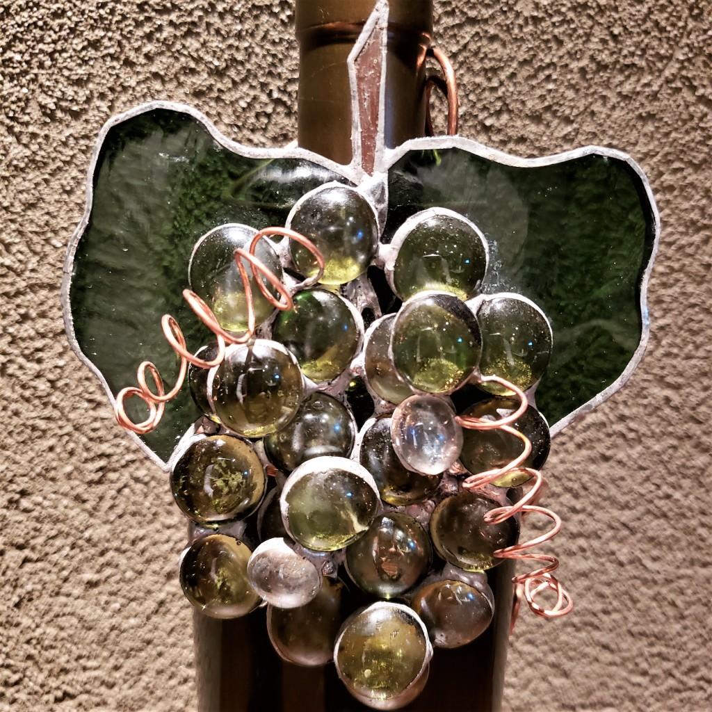 Green Grape Wine Charm by It Ain't Plain By Jane.